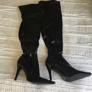 Nine West Black Thigh High Boots